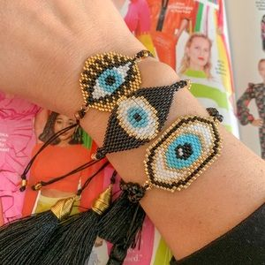 Jewelry - Trending beaded Eye Bracelets